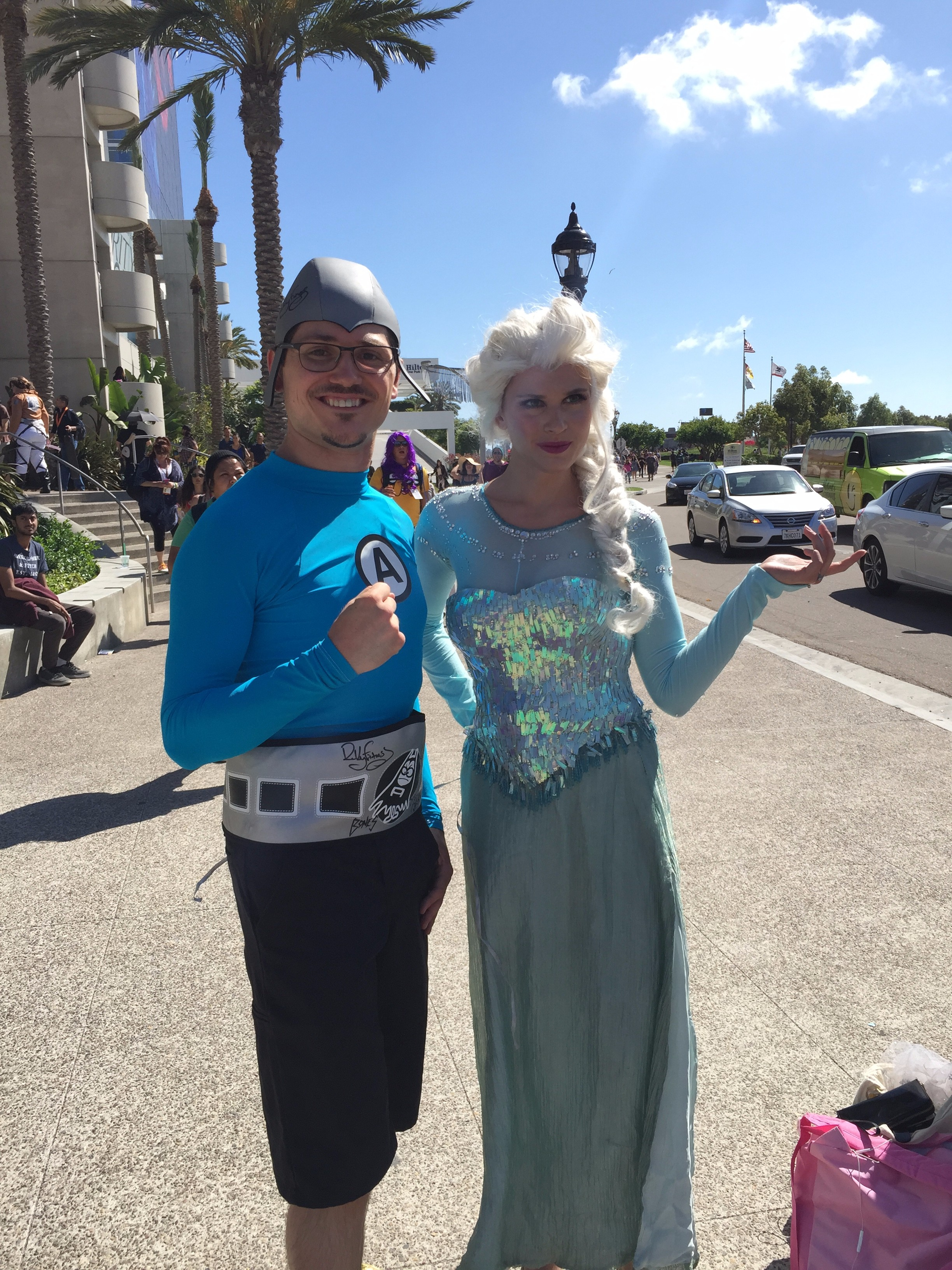 Aquabat and Elsa at SDCC 2015